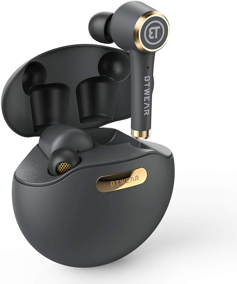 True Wireless Headphones,BTwear Powerpods Wireless Bluetooth Earphones TWS In-Ear Earbuds