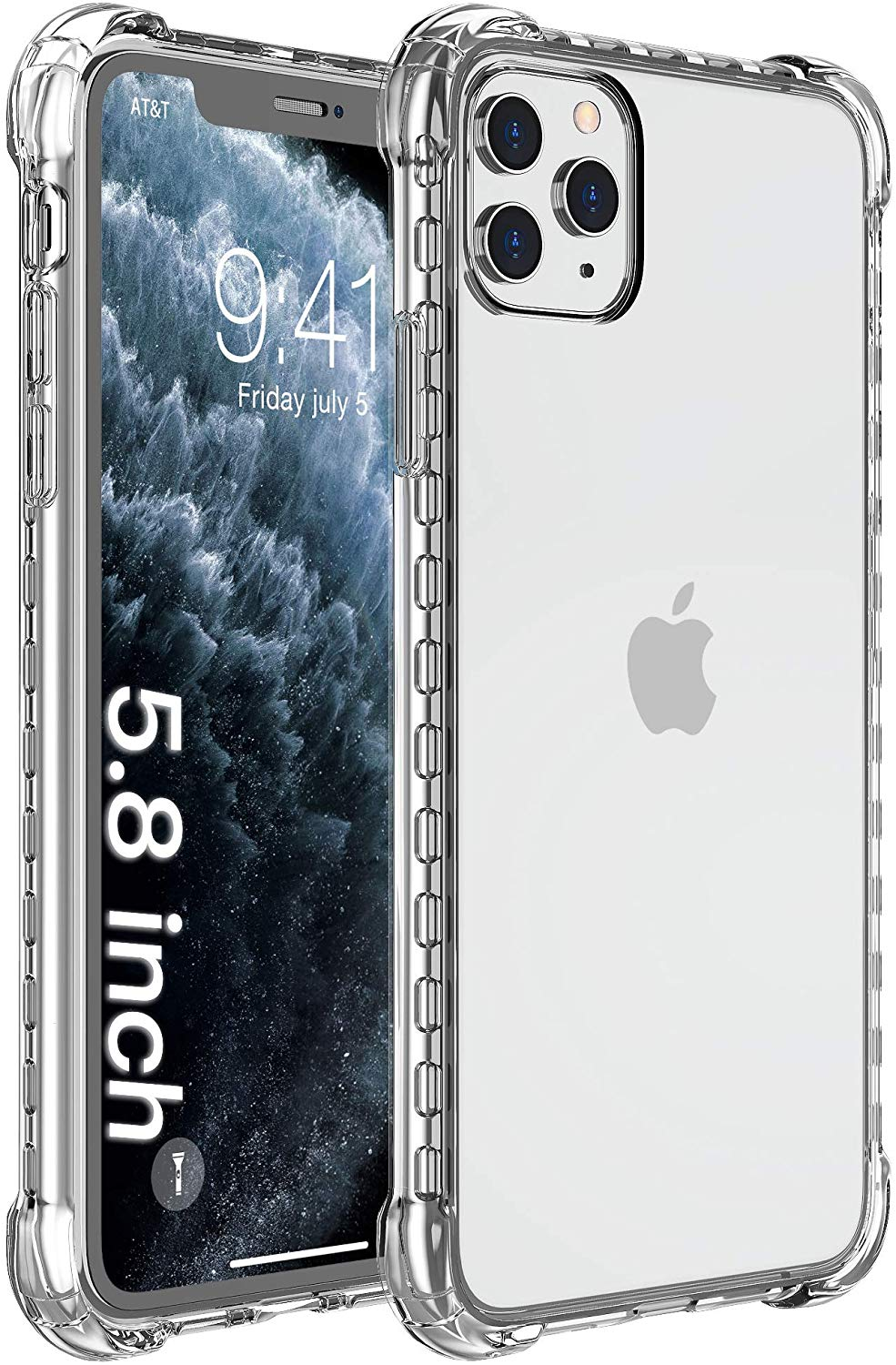 iPhone 11 Pro Case, Clear Anti-Scratch Shockproof Cases Cover