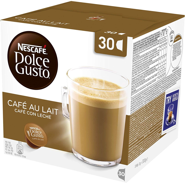 Nescafé Dolce Gusto Cafe au Lait Coffee Pods, 30 Capsules £3.5