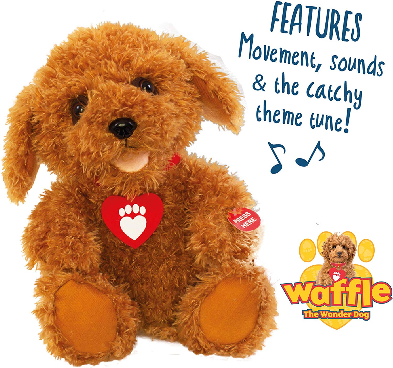 Save £10 Waffle the Wonder Dog Interactive Soft Toy