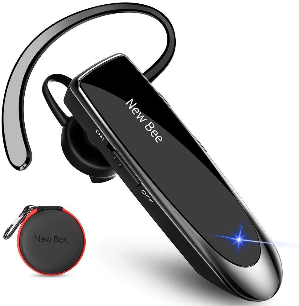New Bee Bluetooth Headset V5.0 Handsfree Bluetooth Earpiece