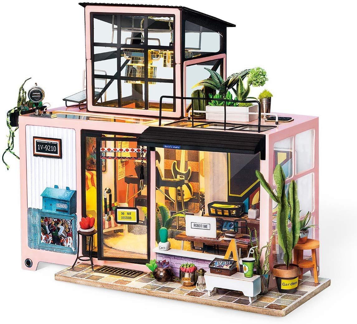 70% OFF Robotime Doll House Furniture Accessories Miniature Building (Studio Room)