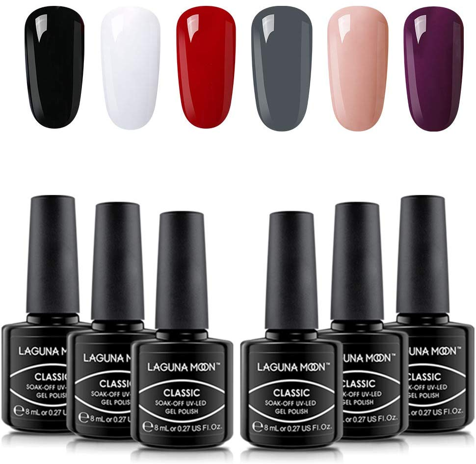 40% OFF Lagunamoon 6 Colours Gel Nail Polish Set
