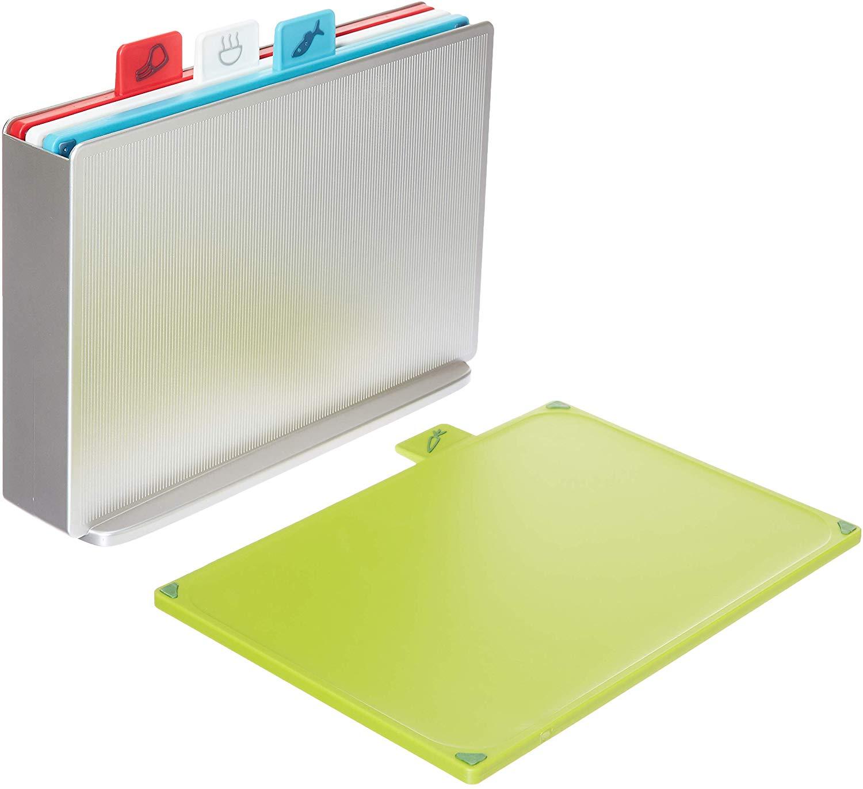 Joseph Joseph Index Plastic Chopping Board Set Regular Silver Set of 4 for £35