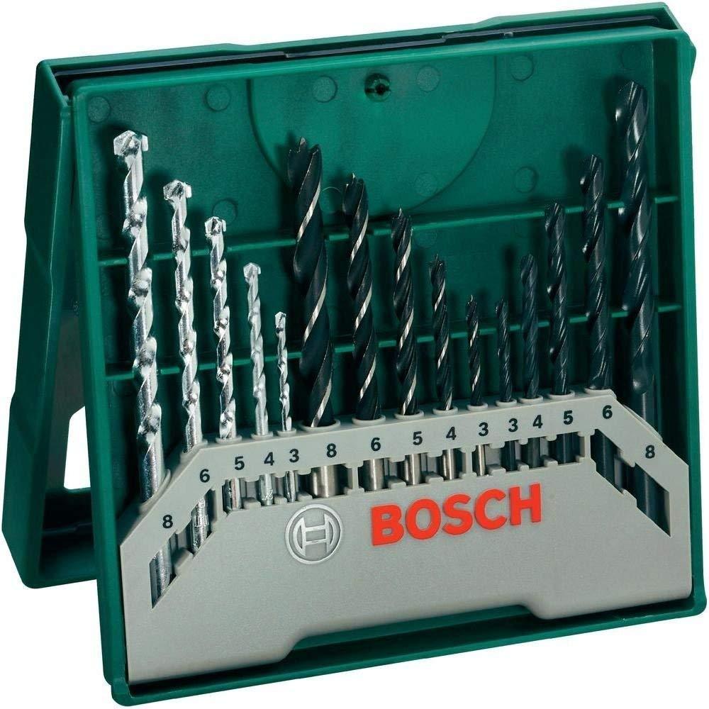 Bosch Home and Garden Mixed Mini X-Line Drill Set, 15-Piece