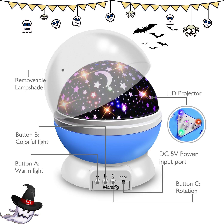 Star Projector, 360°Rotation Star Night Light Lamps