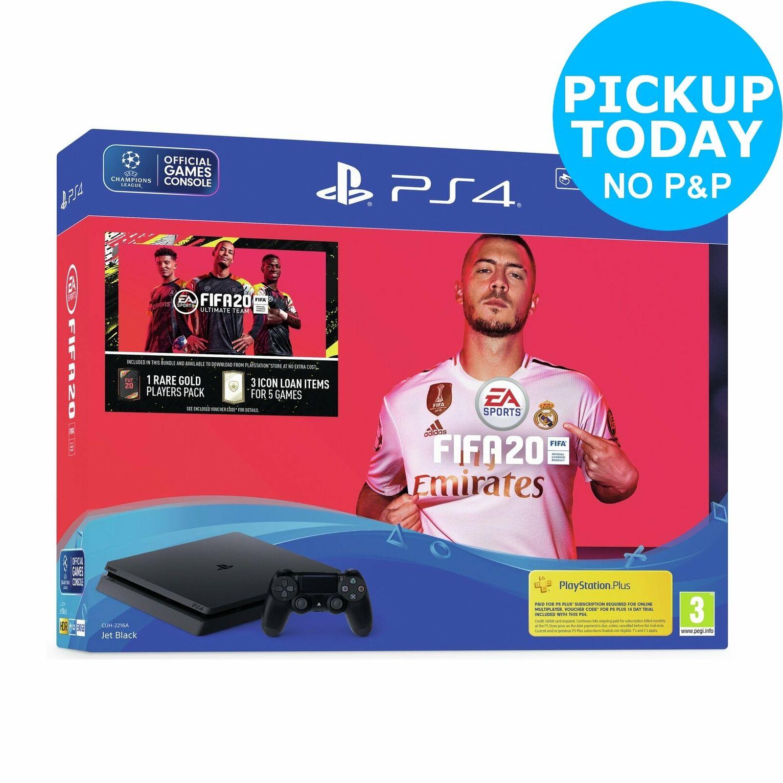 Sony PS4 500GB Console & FIFA 20 Bundle Free C&C From Argos ebay