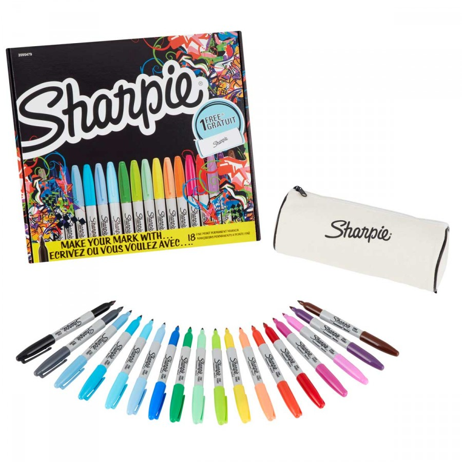 Sharpie Fine Permanent Markers Limited Edition Pack of 18 Assorted Free C&C On Ryman