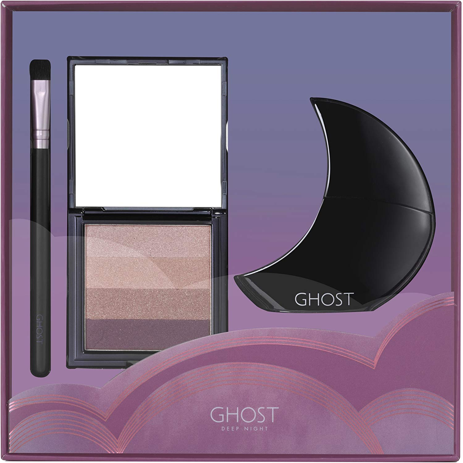 Ghost Deep Night Eau de Toilette Spray, Eye Shadow Pallet and Makeup Brush Gift Set £13.5 Prime +4.49 Non Prime