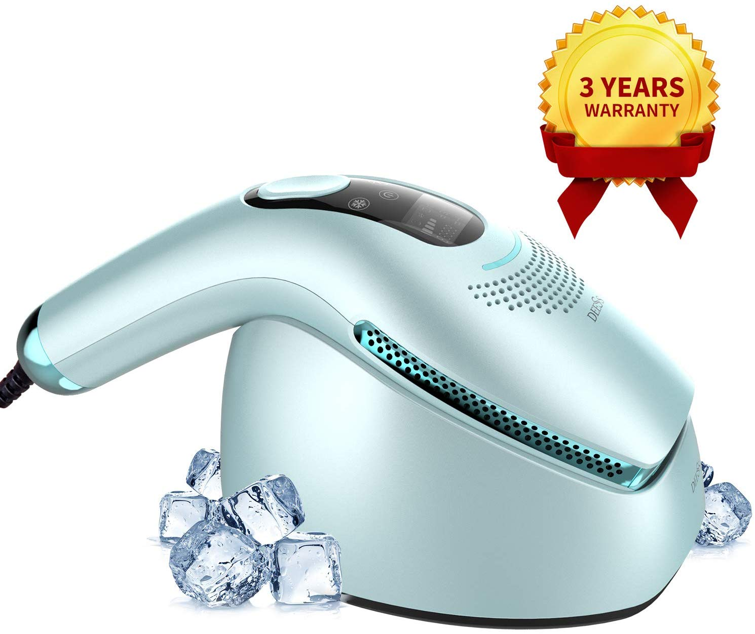 DEESS ICY Cool Laser Hair Removal System GP590,0.9s/Flash Fastest Cold Compress IPL Hair Removal Device