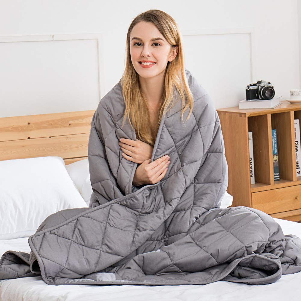 jaymag Weighted Blanket for Adult/Teenager – Weighted Therapy Anxiety Blankets – Sensory Calming Blanket