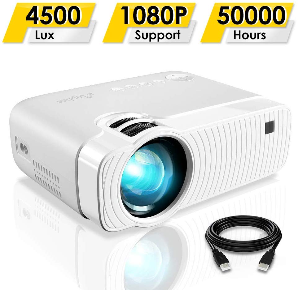 GC333 Portable Projector with 4500 Lux and Full HD 1080p With Voucher