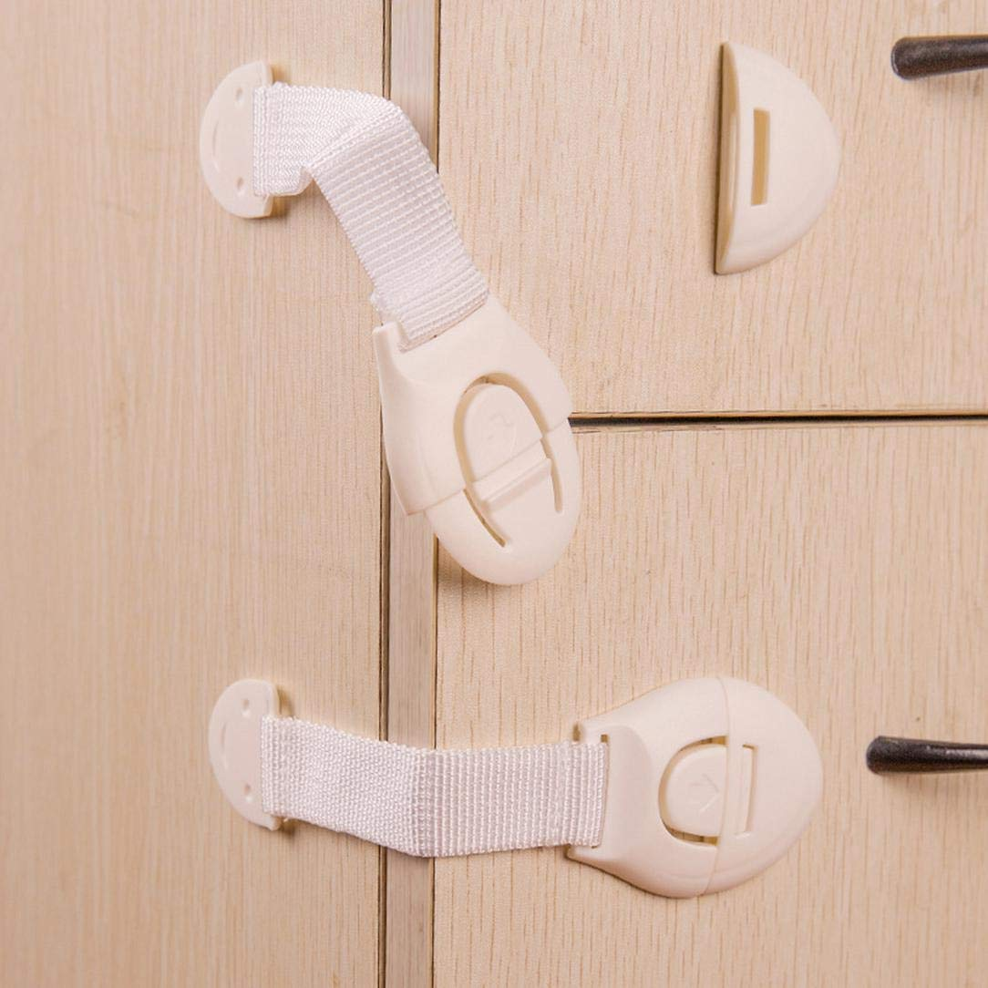 10 PCS Latch Cabinet Door Drawers Plastic Baby Safety Lock