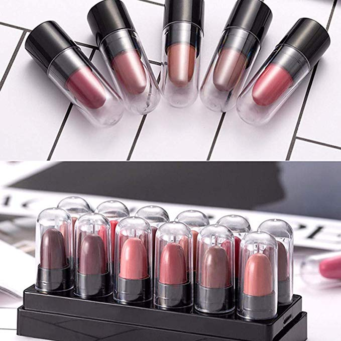 12 Colors Makeup Lipstick Set £0.01 + £2.99 delivery