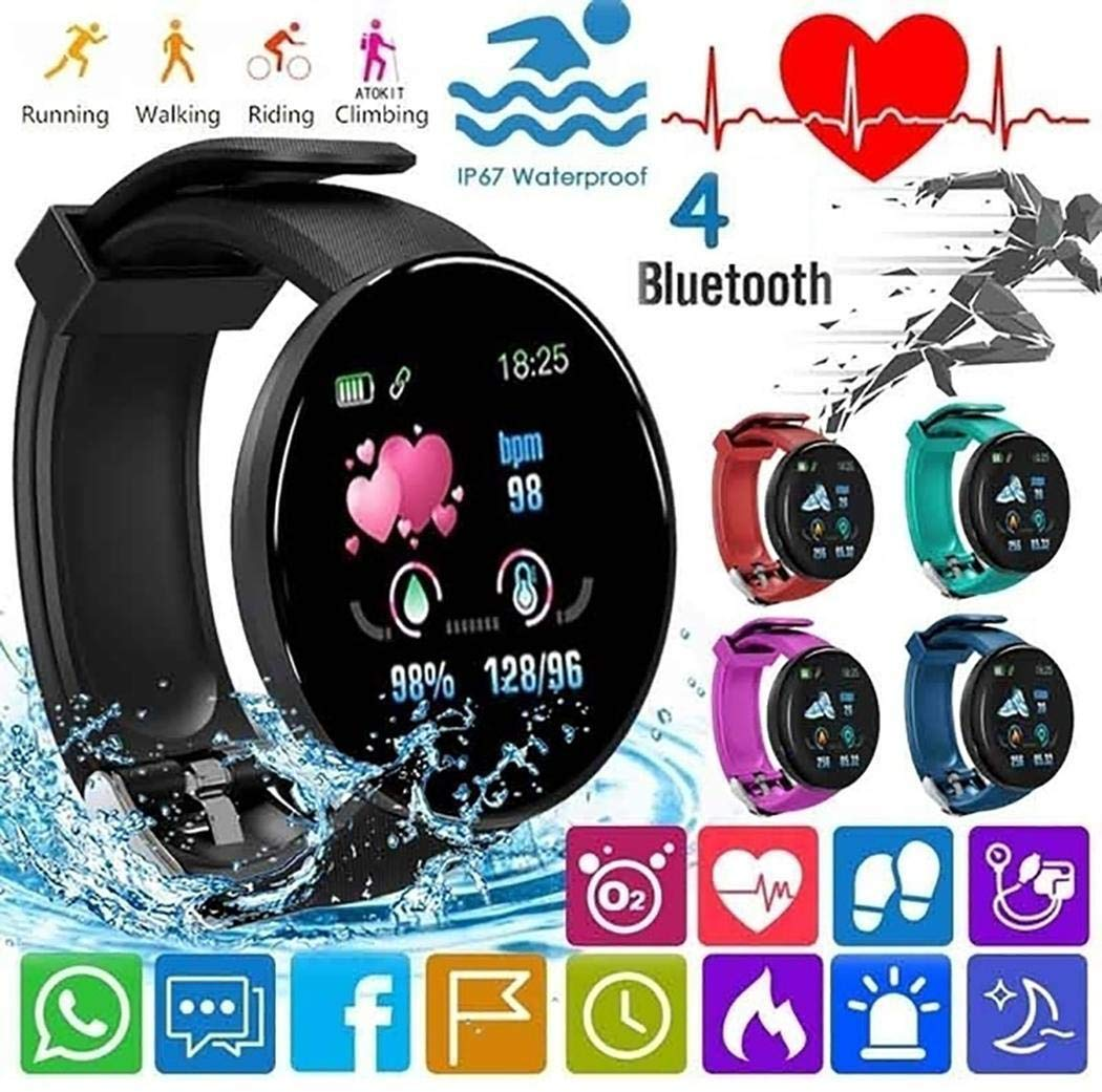 80% off Dieron Unisex Casual Multifunctional Round Shape Bluetooth Smart Wristband Smartwatches