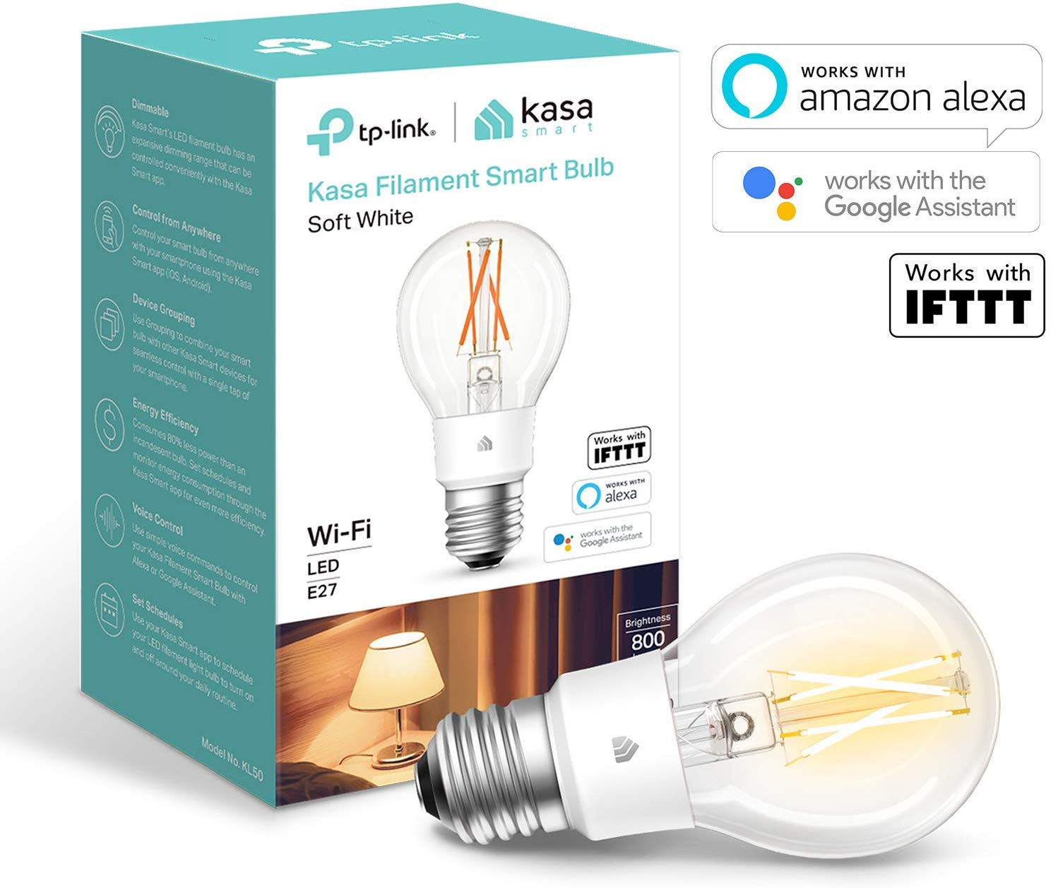 WiFi Filament Smart Bulb  by TP-Link, E27, 7W