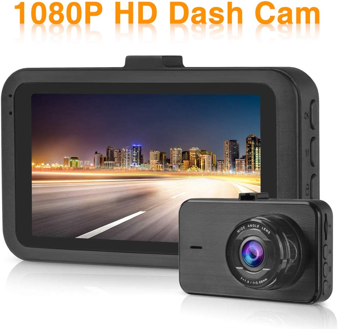 Dash Cam 1080P Full HD Car Dashboard Camera Video Recorder for Cars 3.0″ LCD Screen 170° Wide Angle Night Vision Driving Recorder
