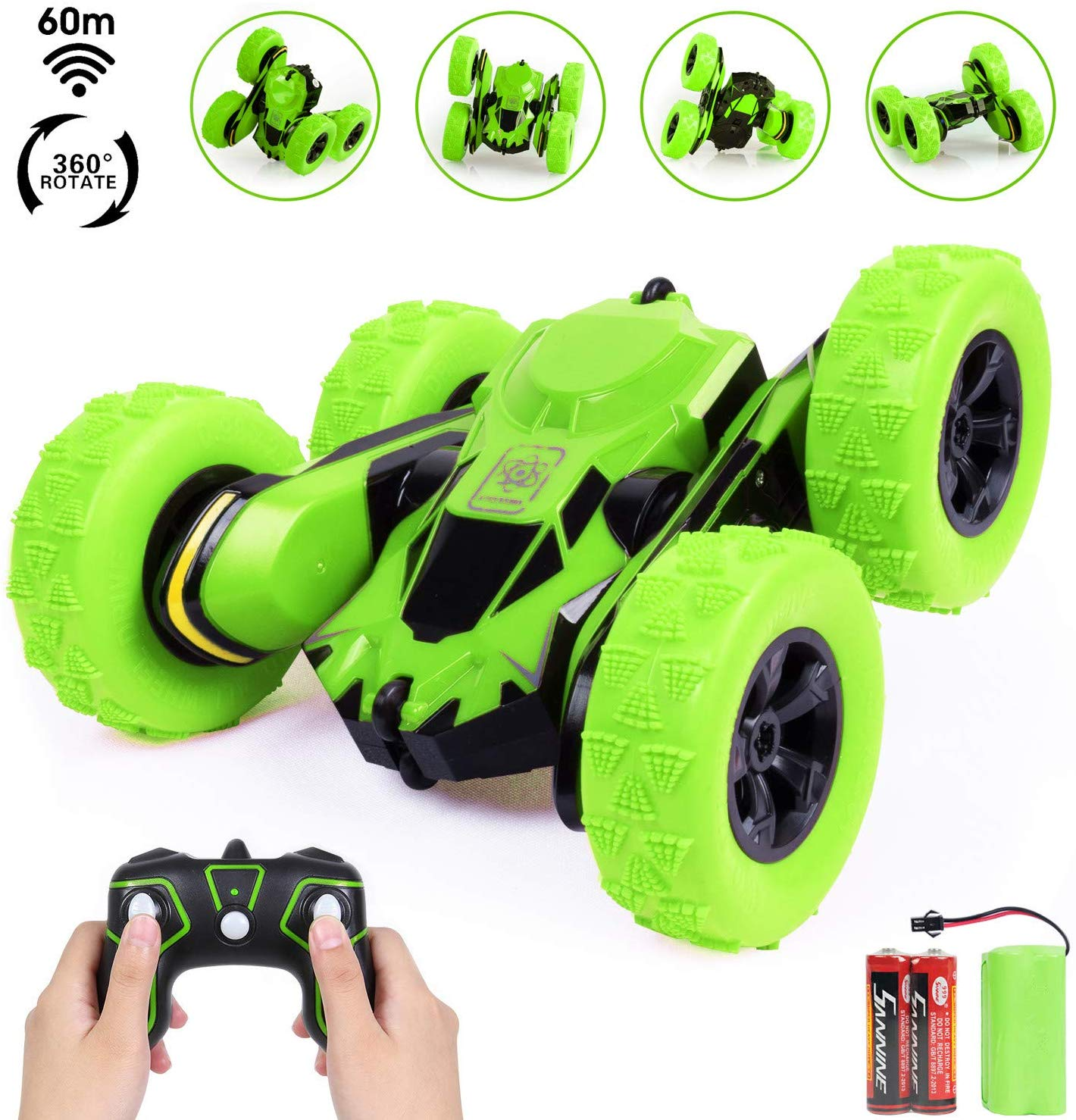 SGILE Toy Gift for 6-12 Years Old Kids – 360° Flip Remote Control Stunt Car Truck