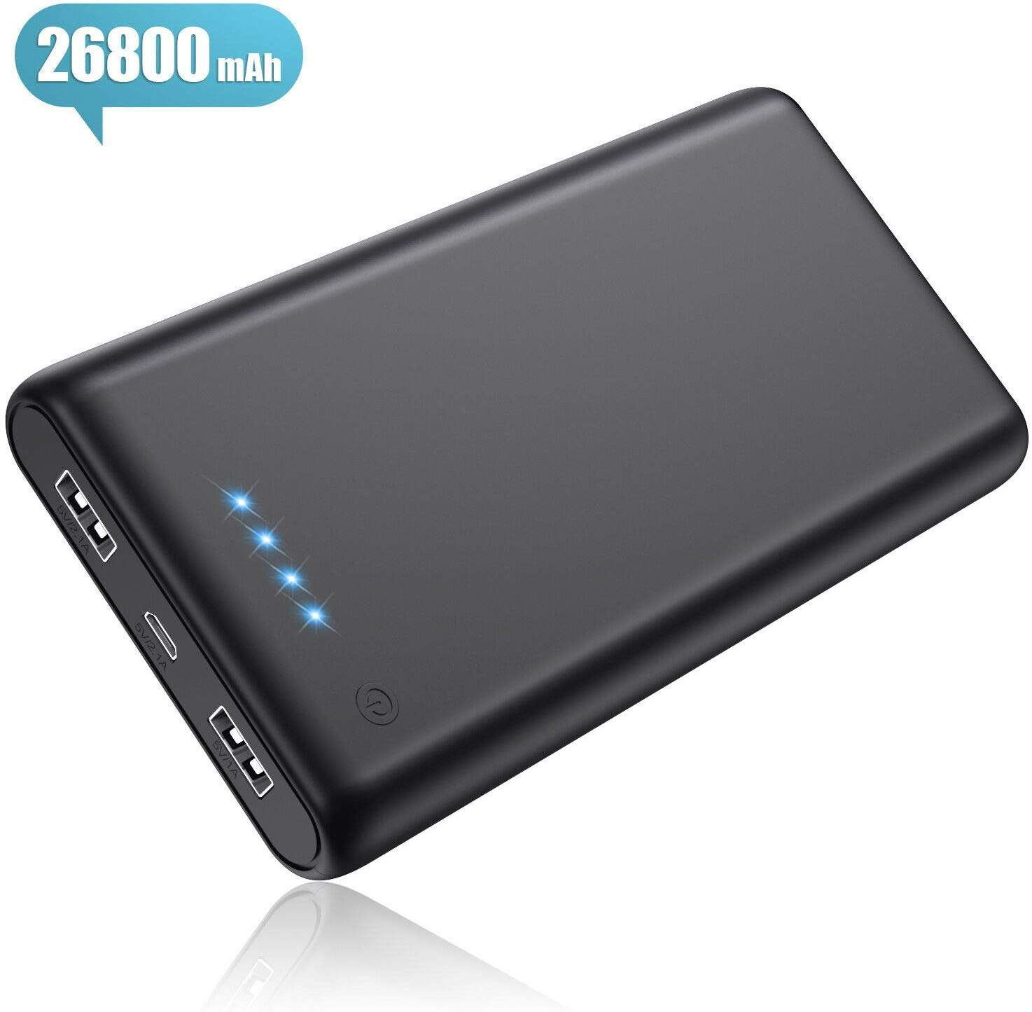 Pxwaxpy Power Bank, Portable Charger [26800mAh Newest Version] High Capacity External Battery Pack
