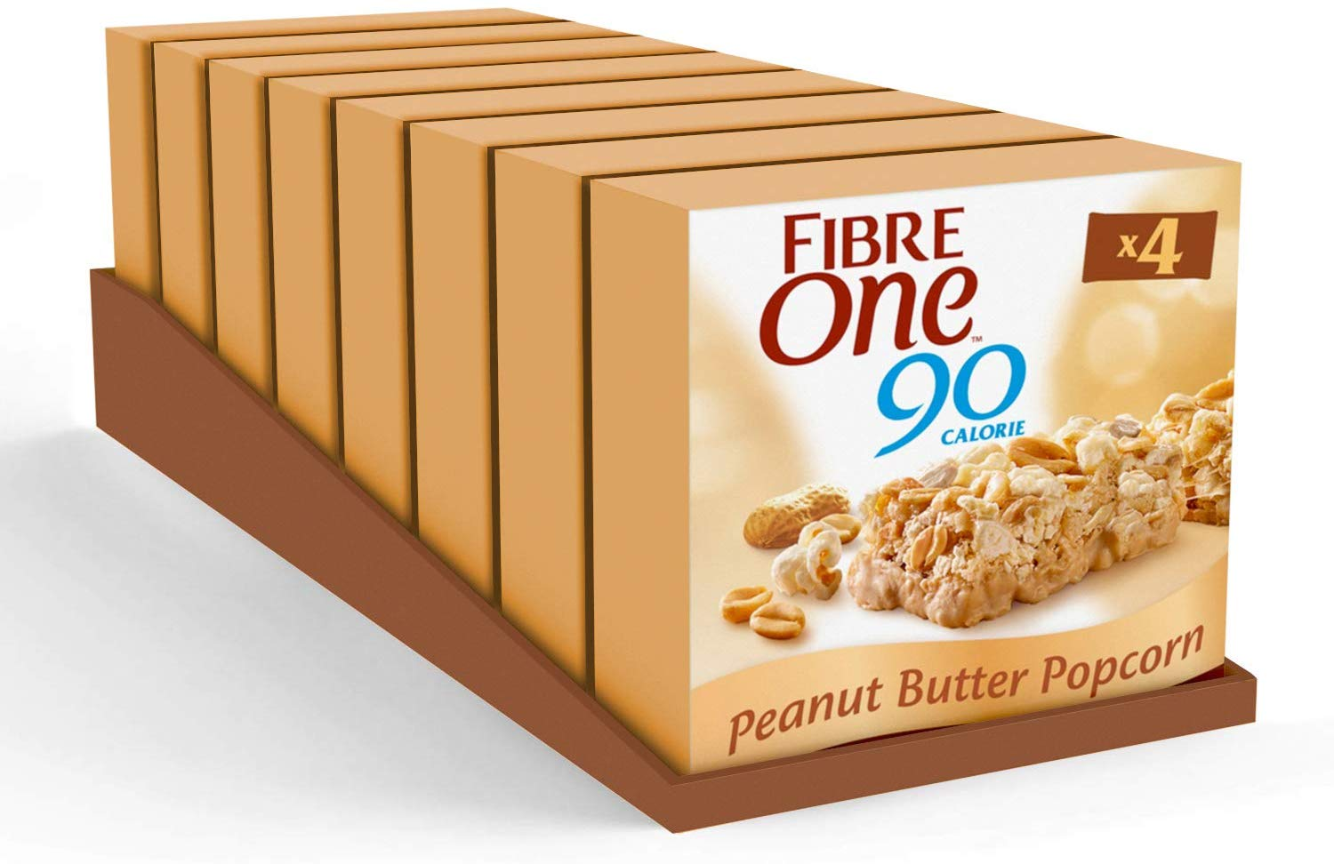 Fibre One 90 Calorie Peanut Butter Popcorn Bars (Pack of 32 bars) £8 Prime