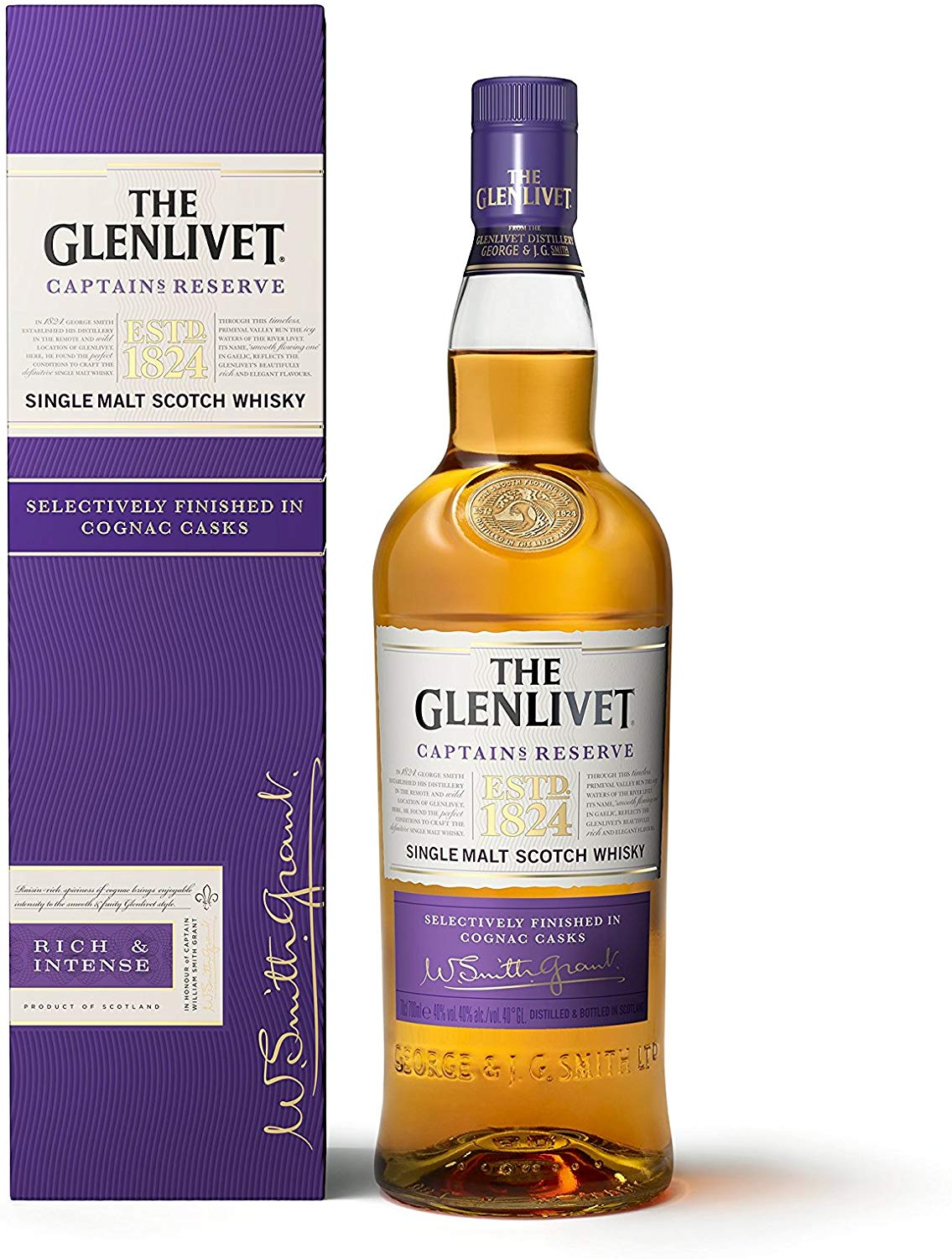 The Glenlivet Captain's Reserve Whisky, 70 cl for £31.5 on Amazon