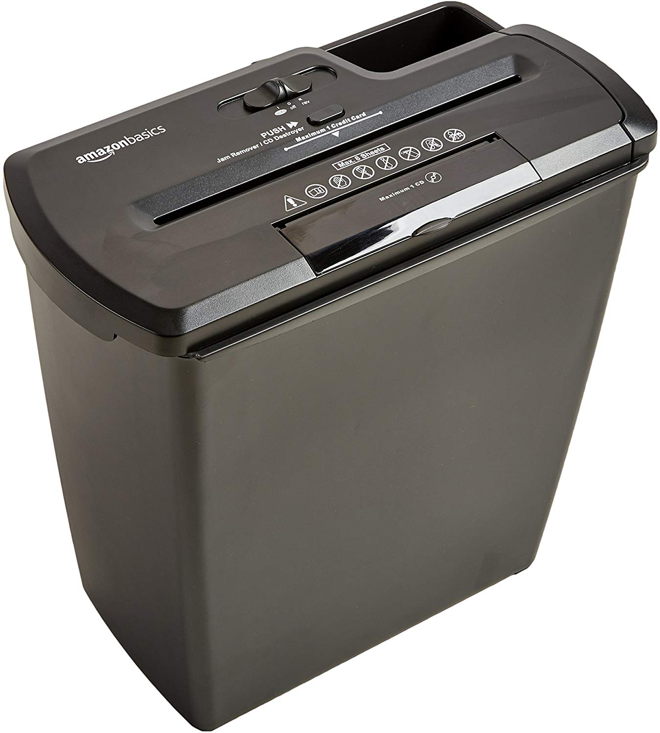 19% off AmazonBasics 8 Sheet Strip Cut Shredder with CD Shred