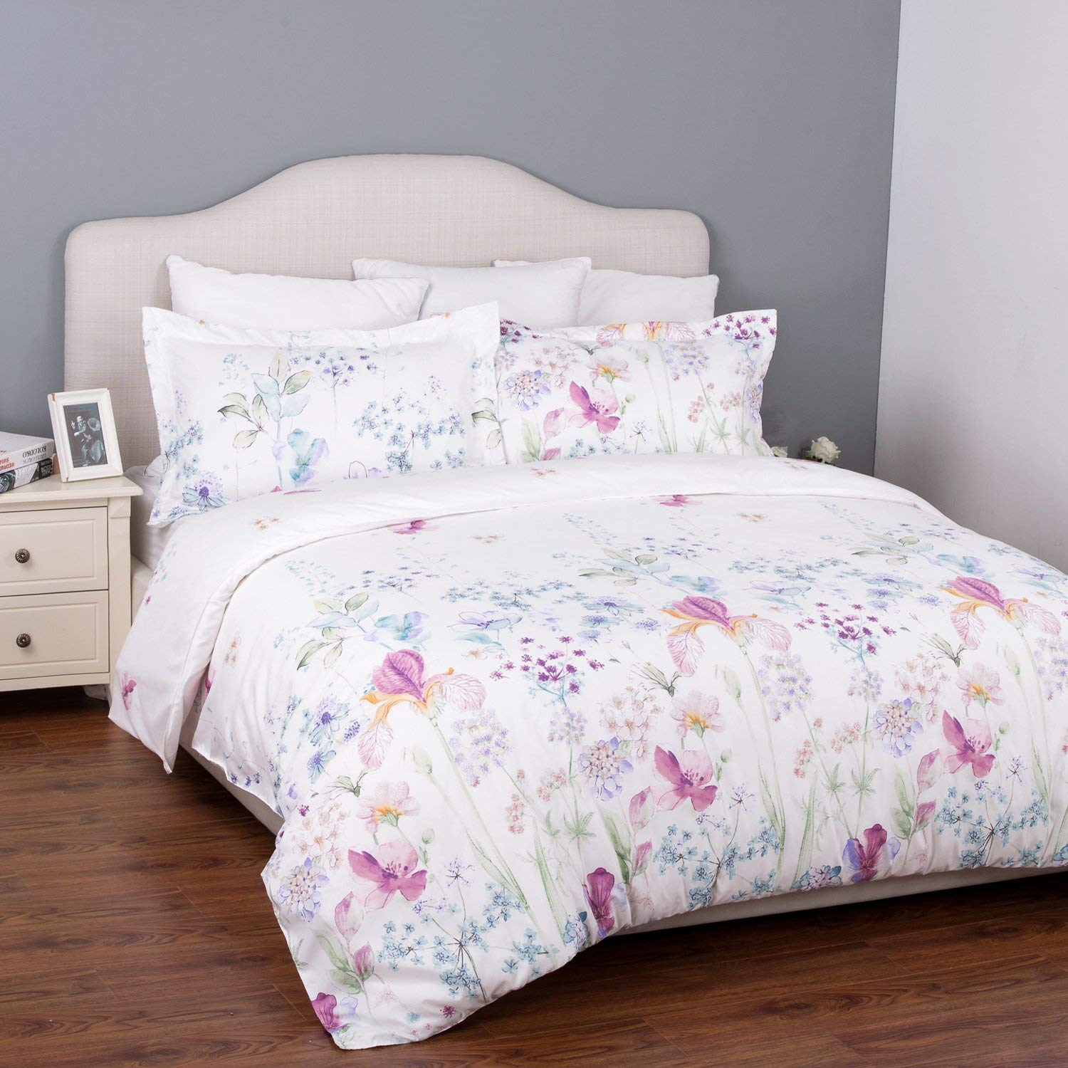 duvet cover Only two color(White/ Purple/ Blue;Cream/ Grey)