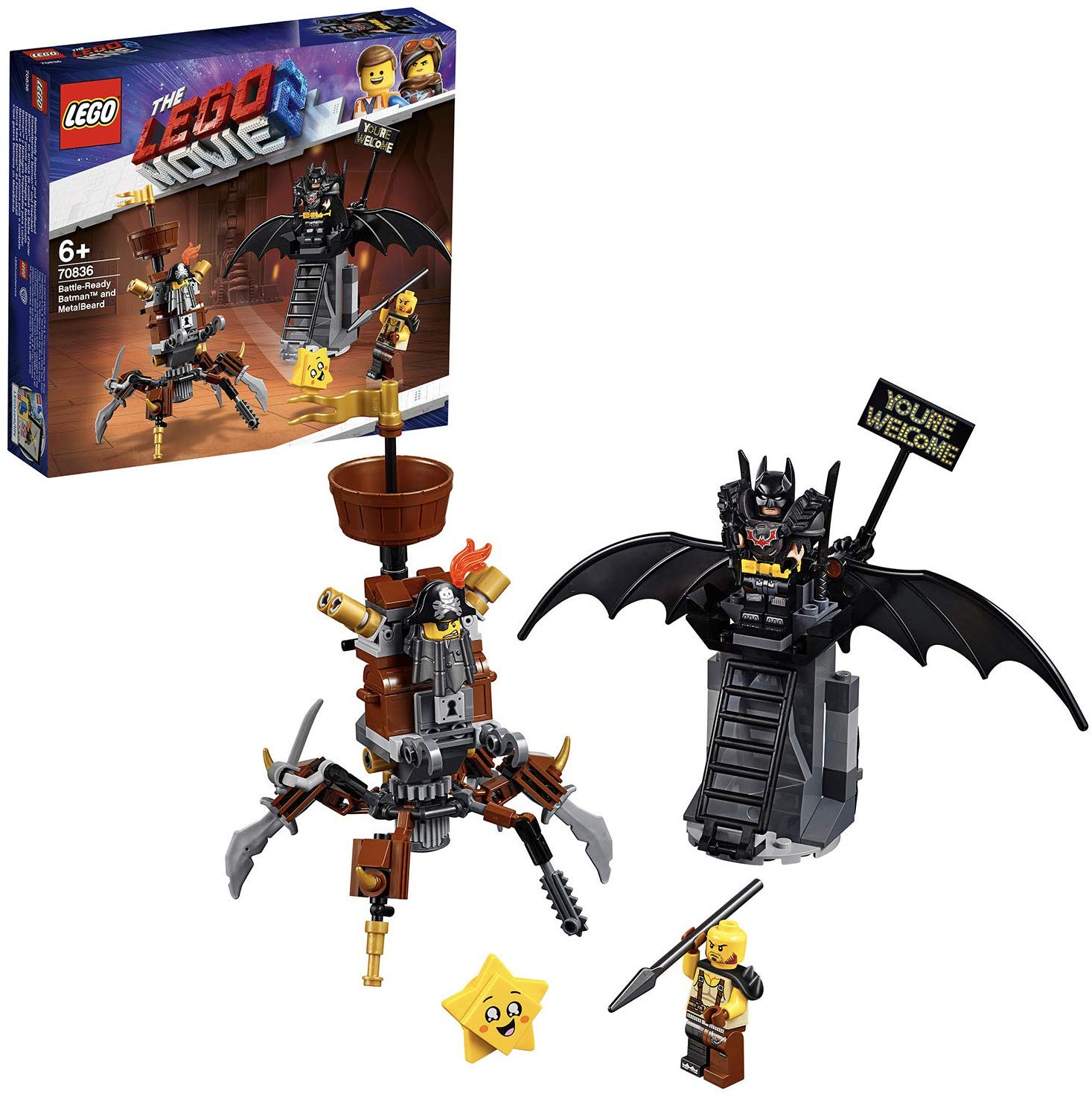 LEGO Movie 2 Battle Ready Batman and Metal Beard for £14.9 on Amazon
