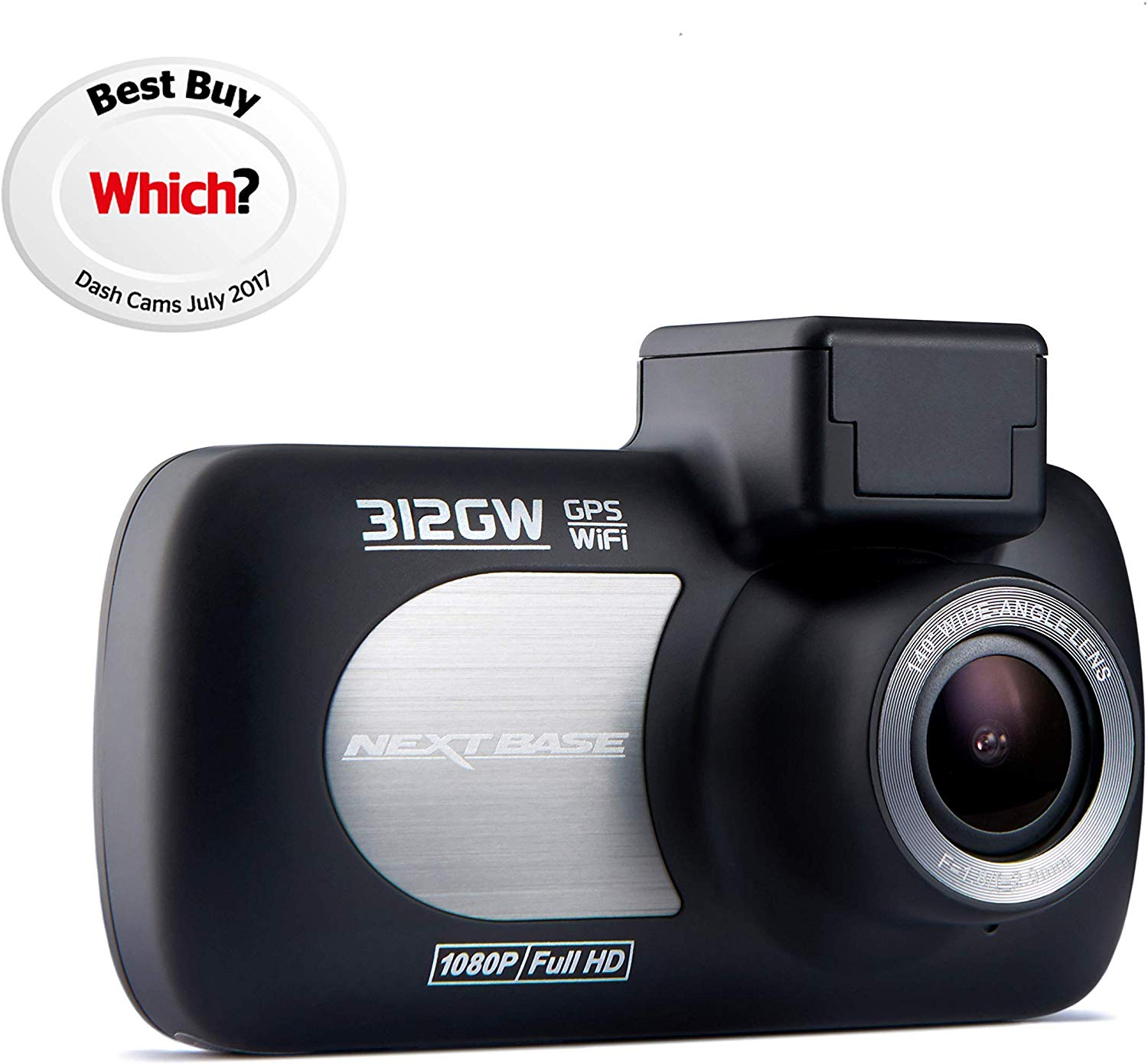 Nextbase 312GW – Full 1080p HD In-Car Dash Camera DVR – 140° Viewing Angle,WiFi and GPS