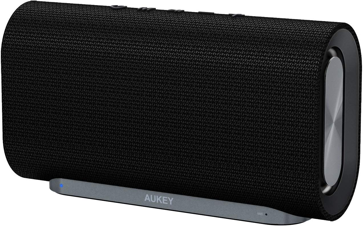 Save £10 on AUKEY Eclipse Bluetooth Speaker 20 W, Woven Fabric Surface for Echo Dot