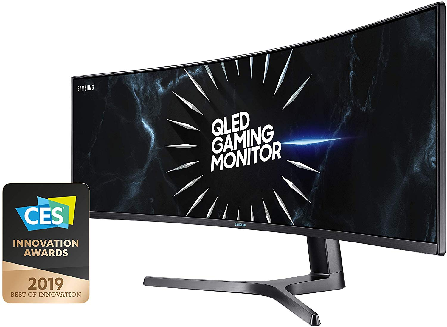 Save £270 Samsung C49RG90 49-inch Super Ultrawide Curved Gaming Dual WQHD 1440p Monitor