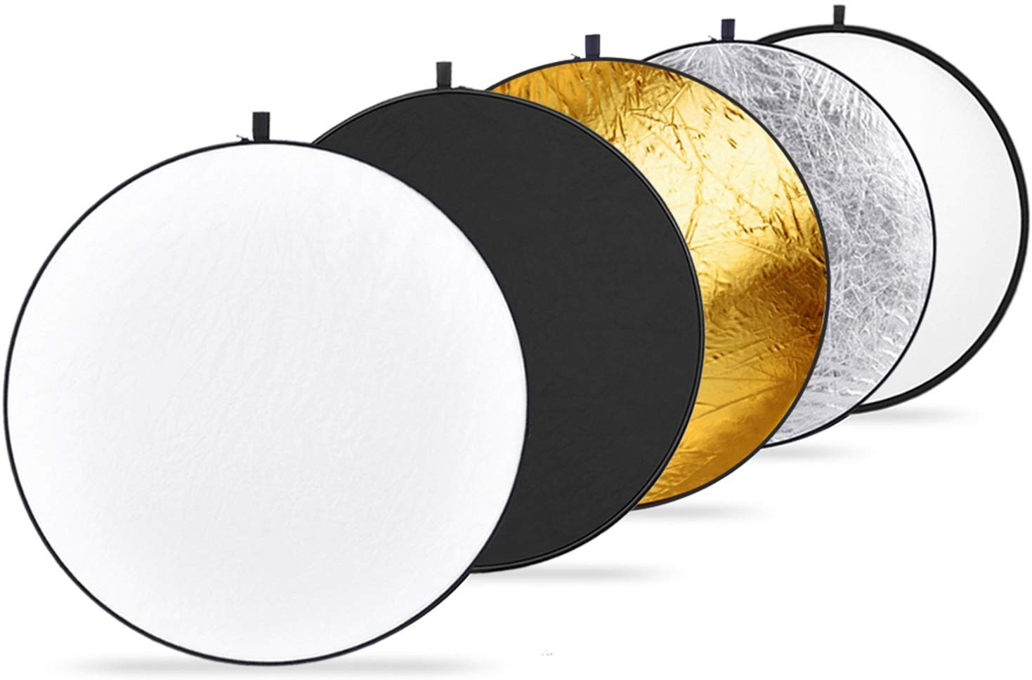 Neewer 32-Inch 80CM Portable 5 in 1 Translucent, Collapsible Round Multi Disc Light Reflector