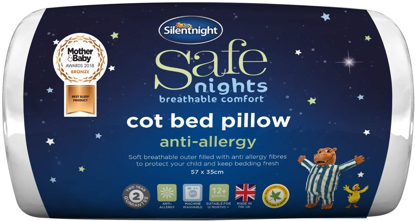 Silentnight Safe Nights Anti-Allergy Cot Bed Pillow £3.75 Prime +£4.49 Non Prime
