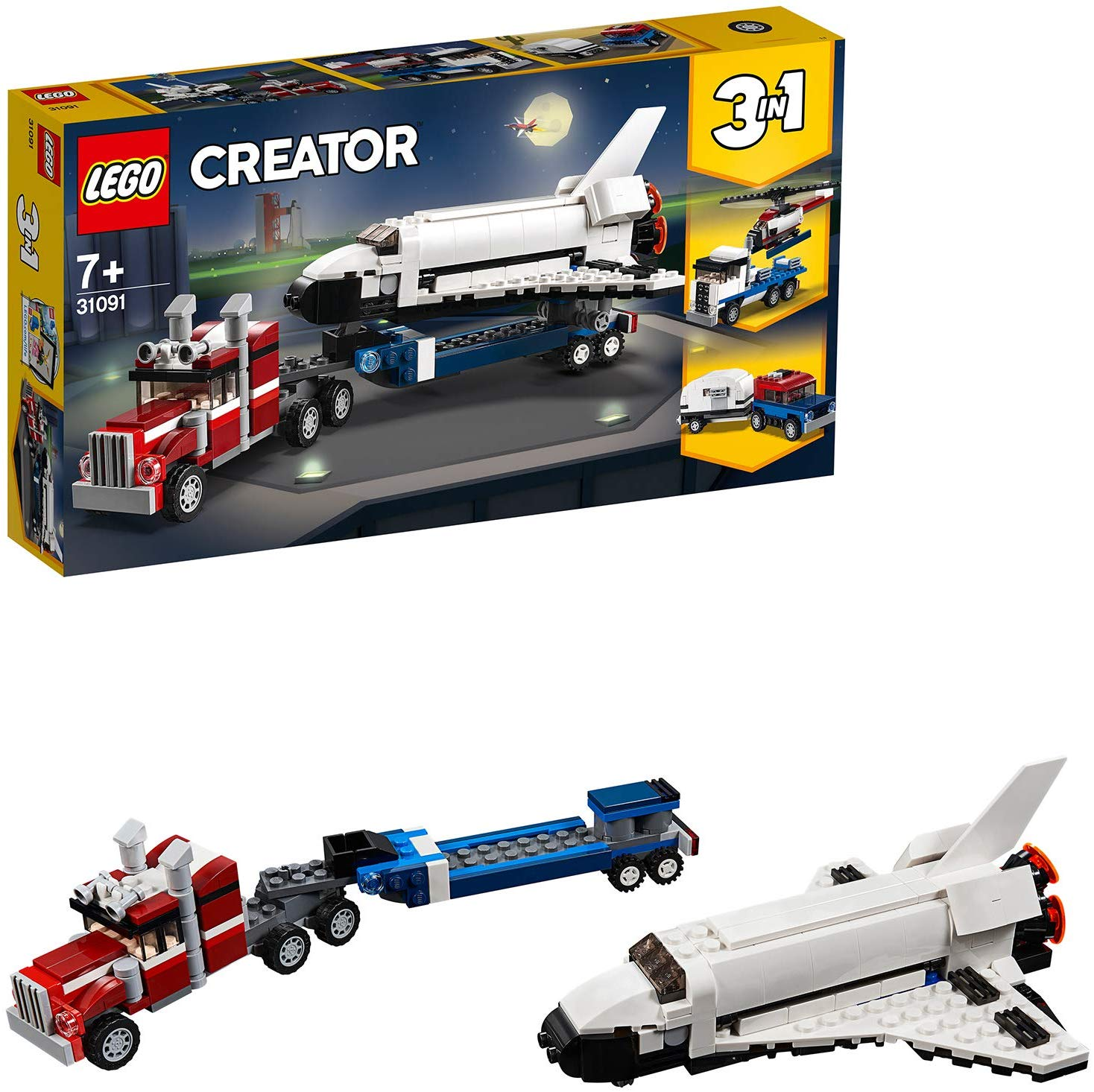 36% off LEGO Creator 3in1 Shuttle Transporter Spaceship, Helicopter Transporter and Car Set