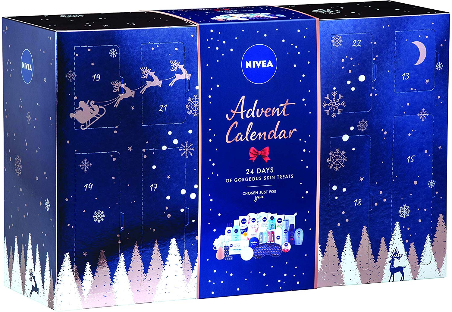 NIVEA Festive Beauty Advent Calendar 2019, Contains 24 Brilliant Beauty Gifts