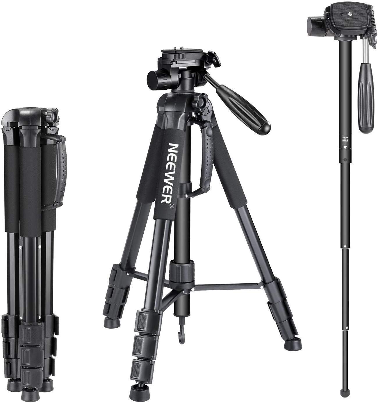 Neewer Portable 70 inches/177 centimeters Aluminium Alloy Camera Tripod Monopod