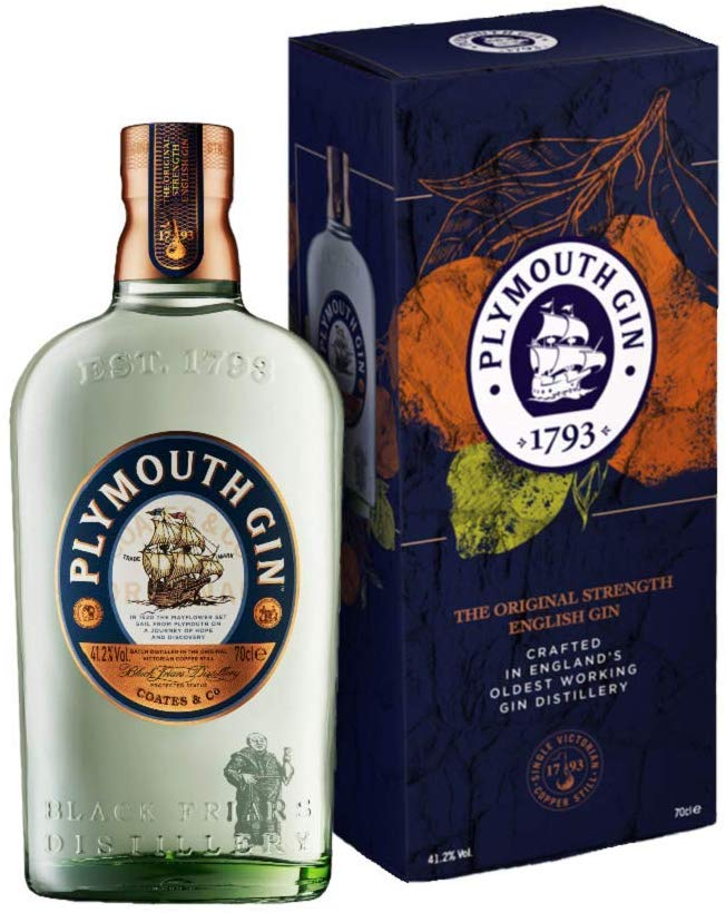 Save £6.69 on Plymouth Original Dry Gin Giftbox, 70 cl