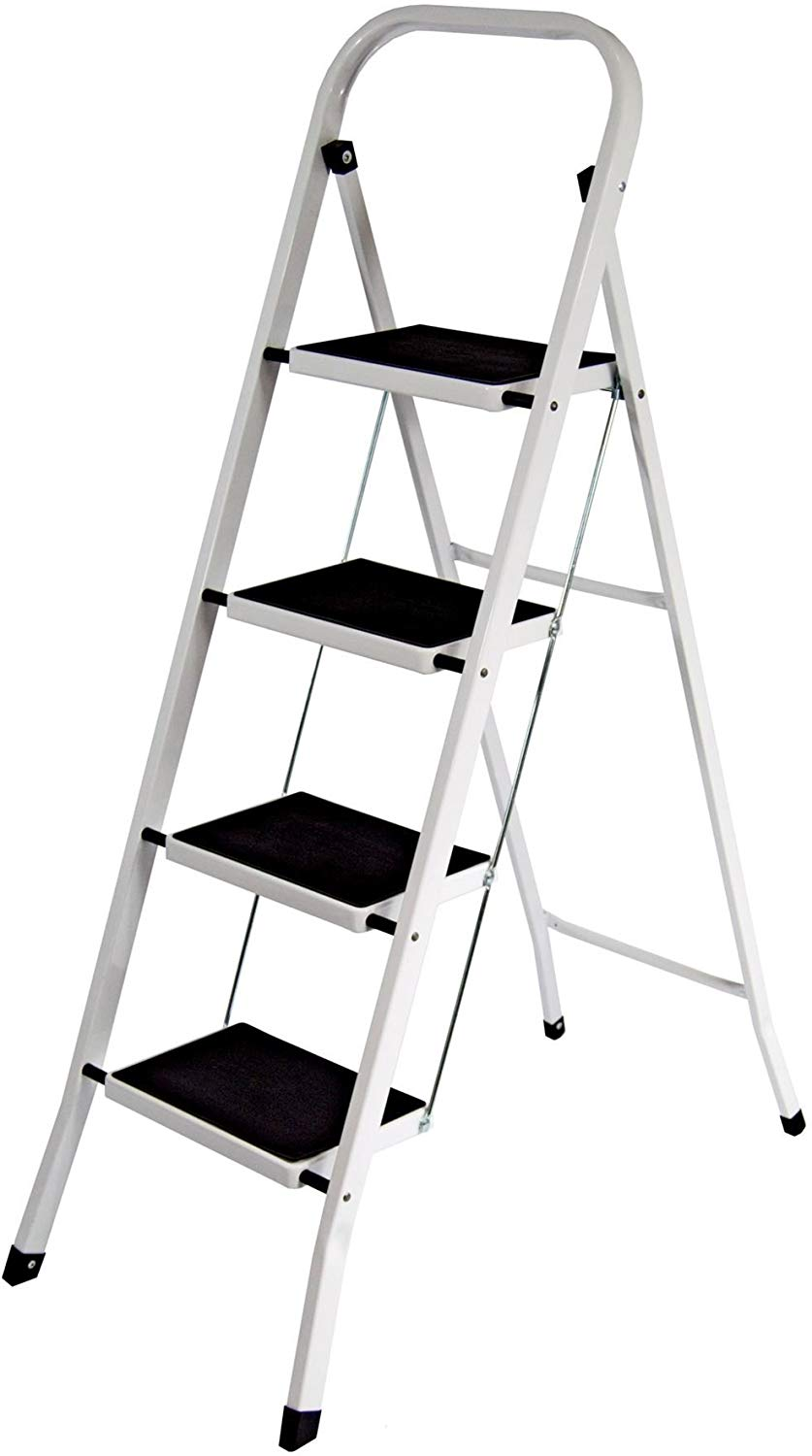 Save £6.96 on Home Discount 4 Step Ladder, Heavy Duty Steel, Folding