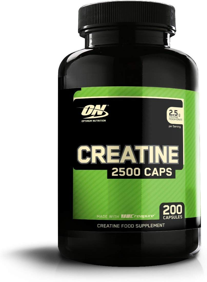 Optimum Nutrition Creatine 2500 mg Capsules, 100 Servings, 200 Capsules