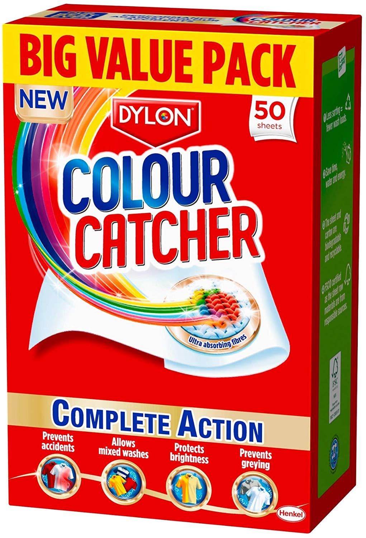 Dylon Colour Catcher Complete Action Laundry Sheets – 50 sheets only £3 for Prime +£4.49 Non Prime