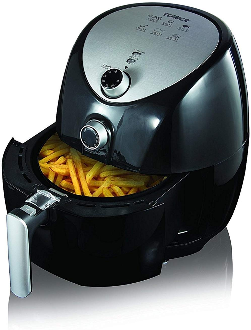 59% off Tower Air Fryer with Rapid Air Circulation System, 1500 W, 4.3 Litre, Black