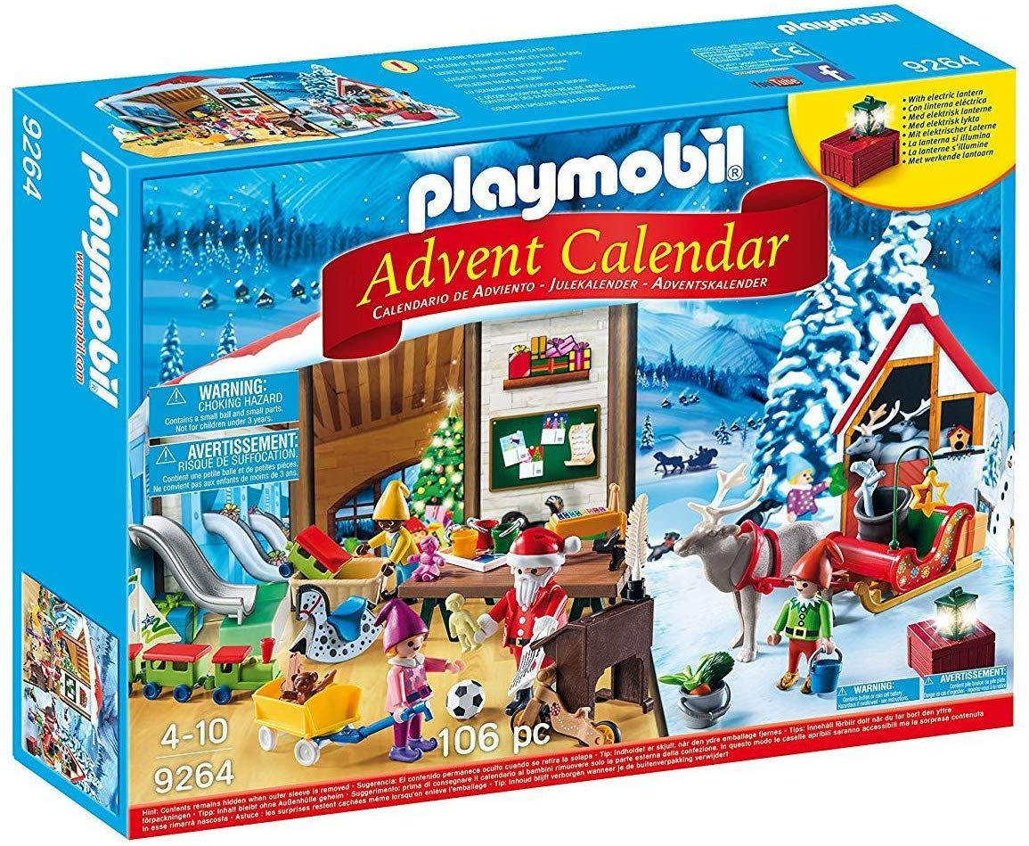 38% off Playmobil Advent Calendar 'Santa's Workshop' with Electronic Lantern