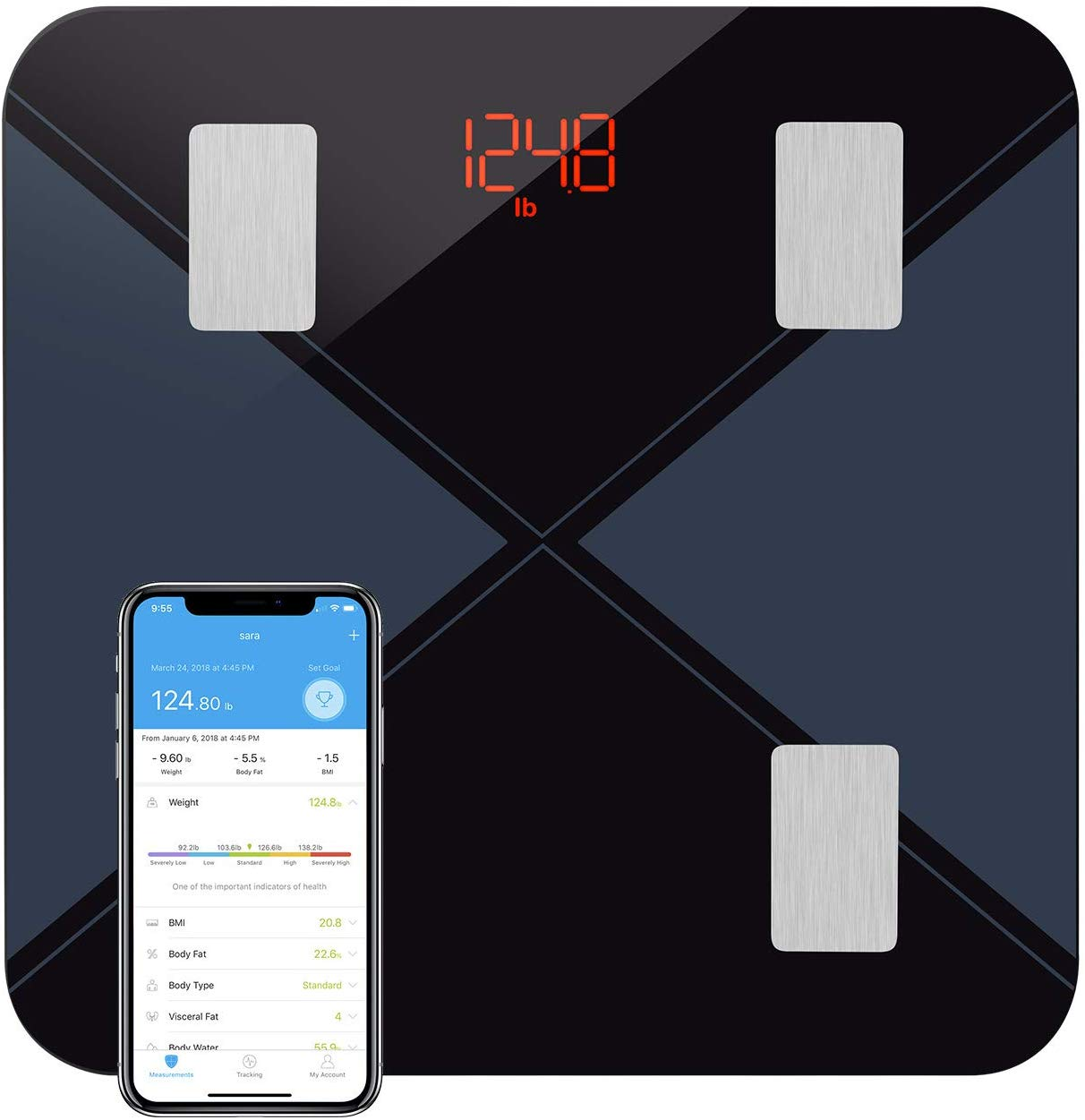 Weighing Scales Body Fat Scales Digital Bluetooth Bathroom Scales