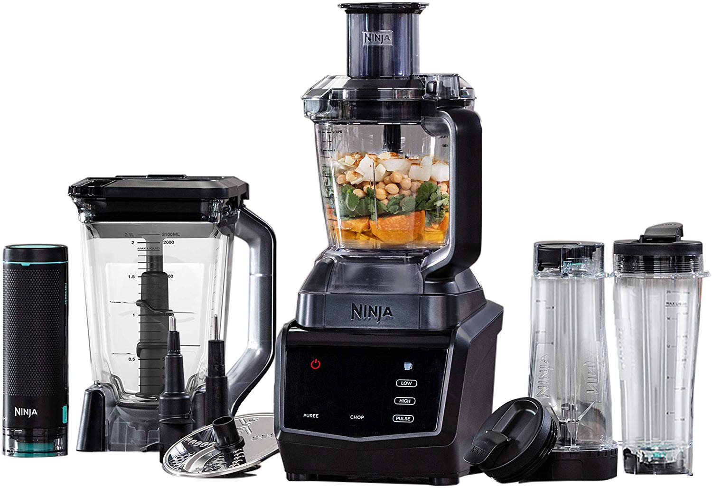 Ninja Blender Smart Screen Kitchen System with FreshVac Technology, Plastic and Metal, 1100 W