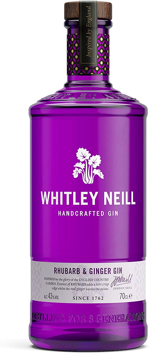 Whitley Neill Rhubarb & Ginger Gin, 70 cl for £20 Delivered On Amazon