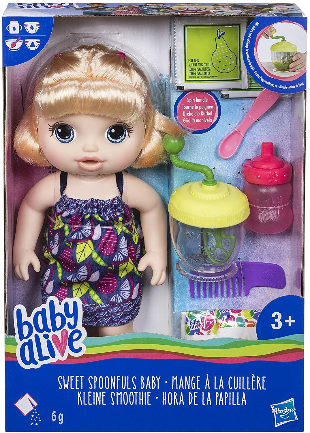 Baby Alive Sweet Spoonfuls Blonde Baby Doll Girl for £21.54 & FREE Delivery