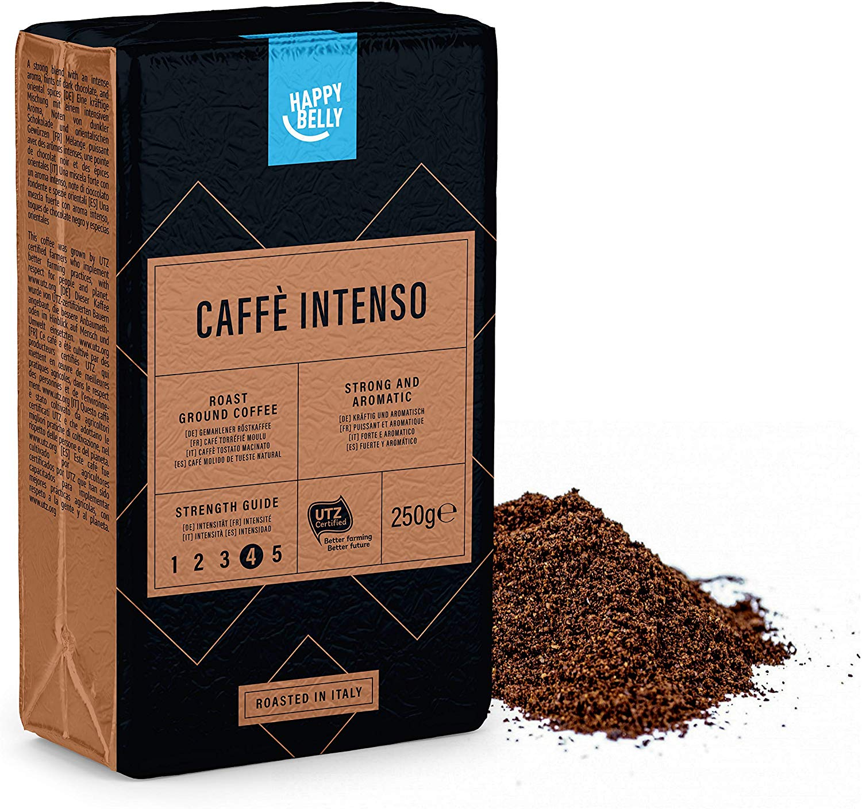 "Happy Belly Ground Coffee ""Caffè Intenso"" (4 x 250g) add on item"