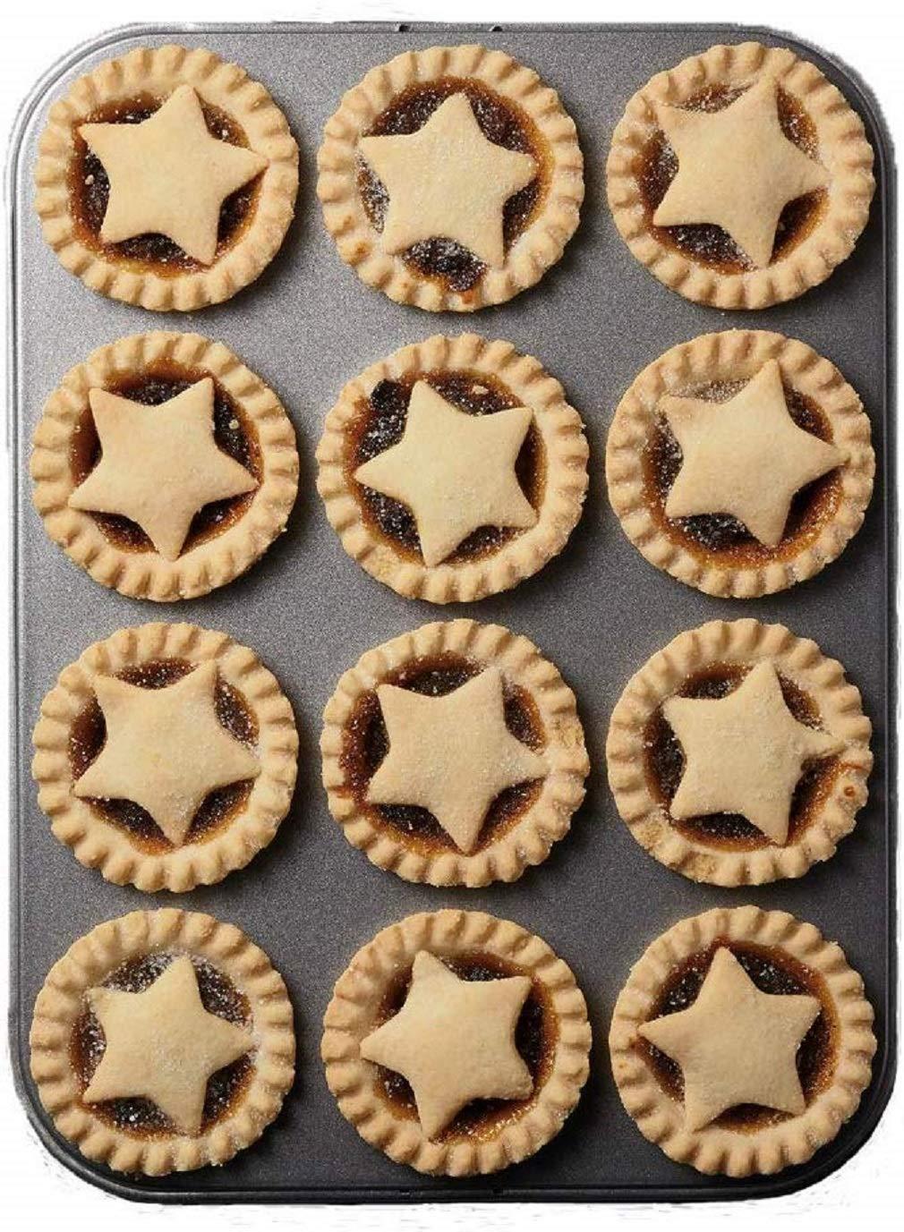 KitchenCraft MasterClass 12-Hole Non-Stick Mince Pie Baking Tray, 32 x 24 cm, £6.99  Prime on Amazon