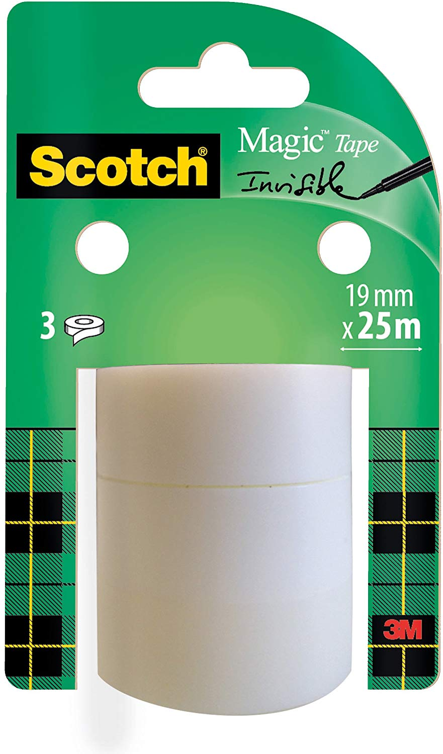 59% off Scotch Magic Invisible Tape 3 Refill Rolls 19 mm 25 m