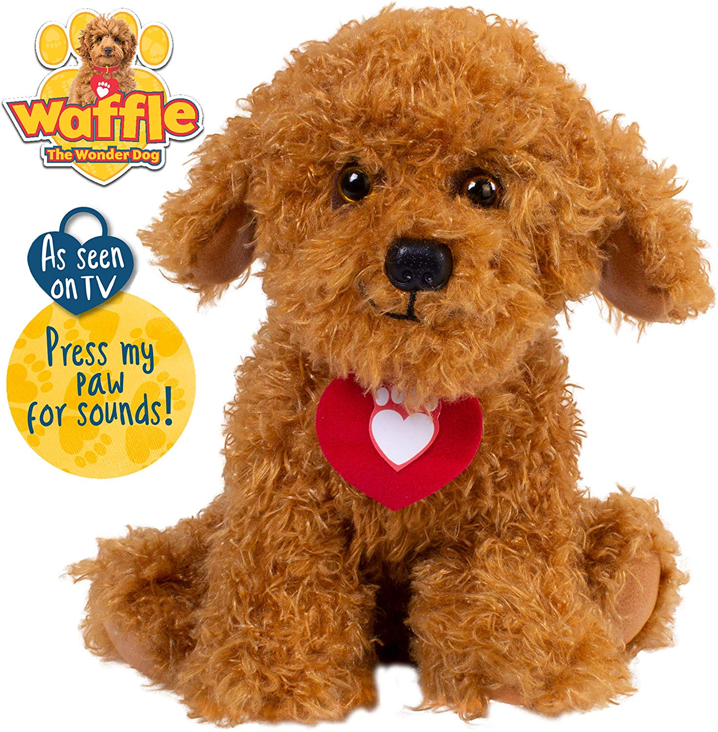 Waffle the Wonder Dog Soft Toy with Sounds for Prime £14.73